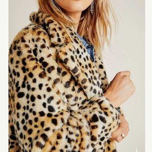 Joseph Ribkoff Faux Fur Leopard Coat